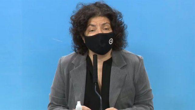 La ministra de Salud Carla Vizzotti dijo quehay un aumento importante de demanda espontánea y una tensión en algunas regiones en el sistema de salud.