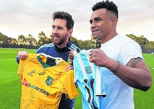 Messi, con un wallaby