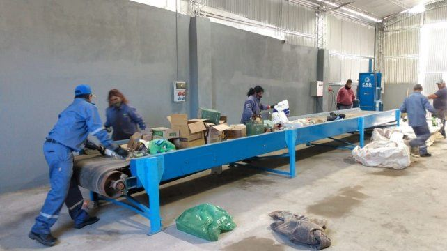Los trabajadores de la planta cuentan con una cinta transportadora de 12 metros por donde hacer la separación.