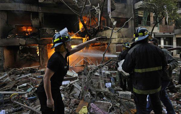 La trágica explosión dejo muertos y heridos. (Foto: N. Juncos)