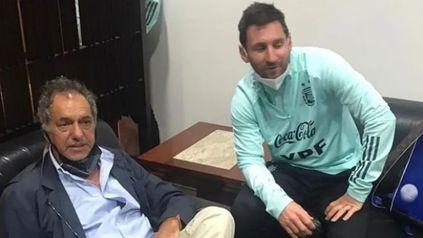 Juntos. Daniel Scioli publicó en su cuenta de Instagram una foto con Lionel Messi.