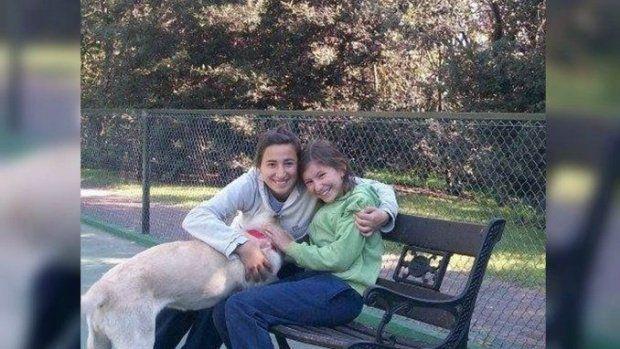 Martina Terragni (derecha) falleció a los 11 años luego de un accidente de tránsito.