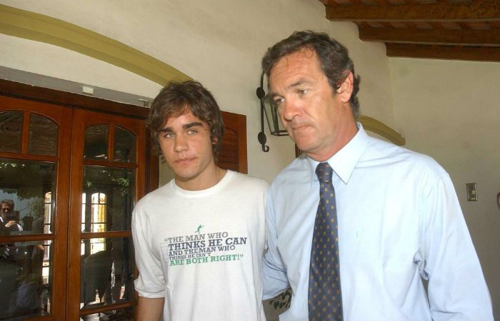 Marcelo Macarrón junto a su hijo.