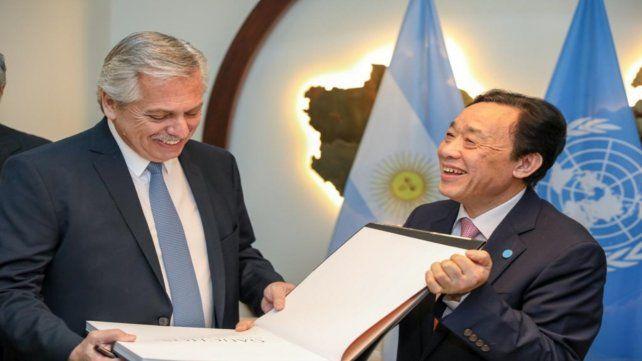 Acuerdo. El primer mandatario y el titular de la FAO se comprometieron a realizar acciones contra el hambre.