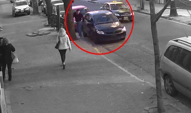 Un video muestra a un sospechoso de haber matado a Fabricio Zulatto abandonando su auto