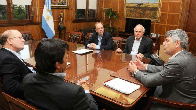 Con Ricardo Buryaile. El jefe de la cartera de Agroindustria recibió al gobernador de Santa Fe en Capital Federal.