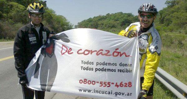 Un transplantado recorre el país en bicicleta para concientizar sobre la donación de órganos