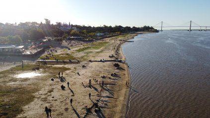 El río Paraná tiene la altura más baja en 50 años: Hay que estar atentos a desprendimientos