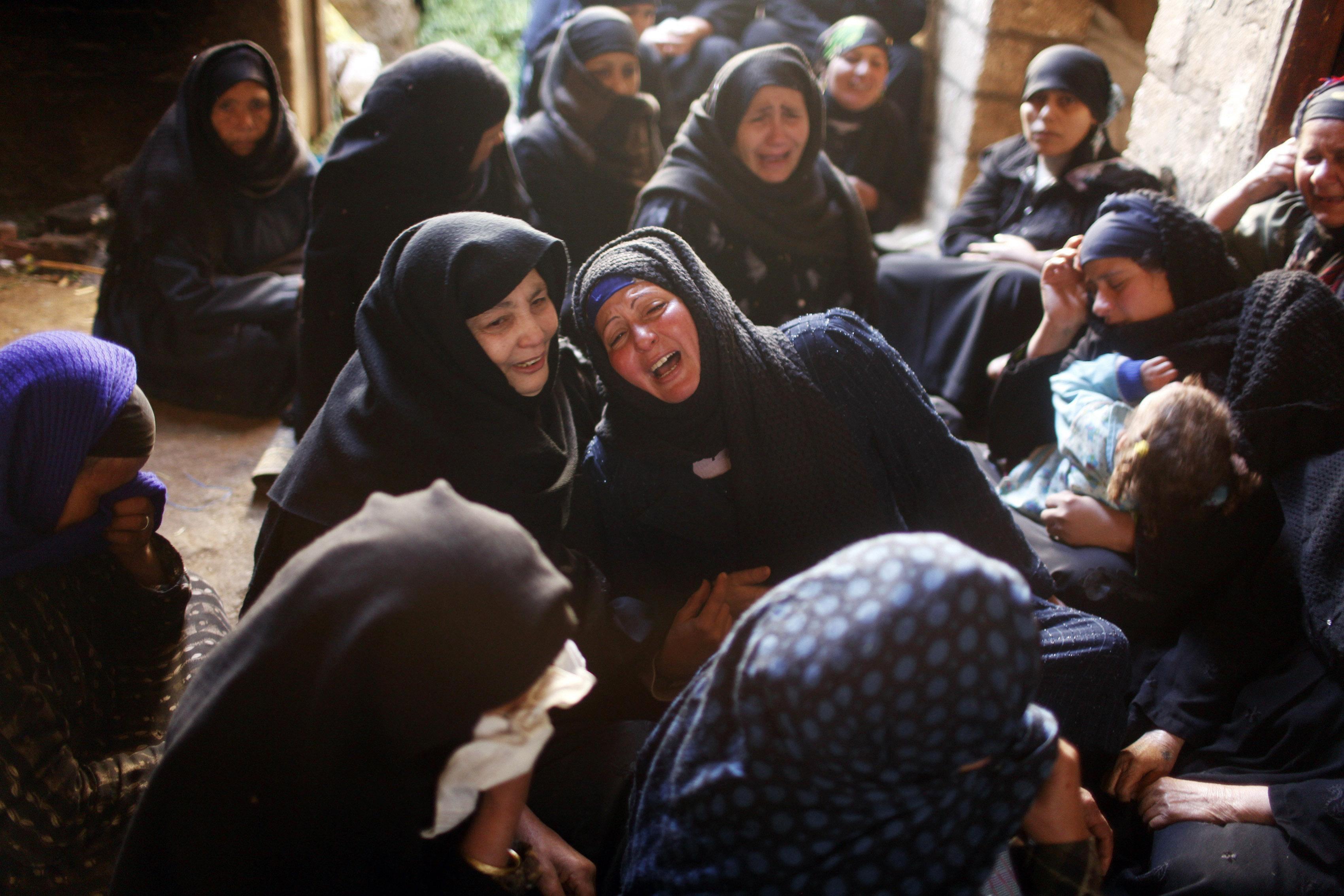 Mujeres de la comunidad copta de Al-Our