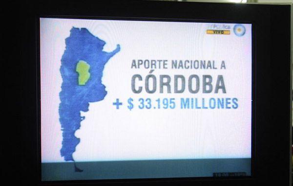 La Nación criticó a Córdoba utilizando el mismo espacio publicitario que usó para cuestionar a Macri en el conflicto de los subtes. (Imagen de TV)