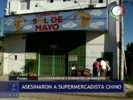 Un comerciante chino fue asesinado a balazos en Funes, pese a que no opuso resistencia
