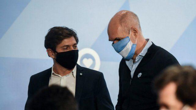 Kicillof dijo que le pidió a Rodríguez Larreta que se vacune contra el coronavirus