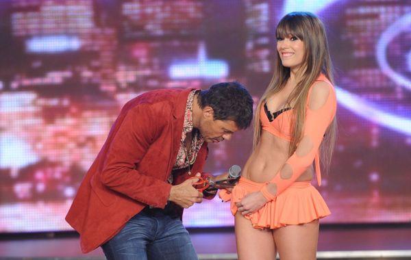 Coki Ramírez y Marcelo Tinelli en una anterior edición del Bailando por un sueño.