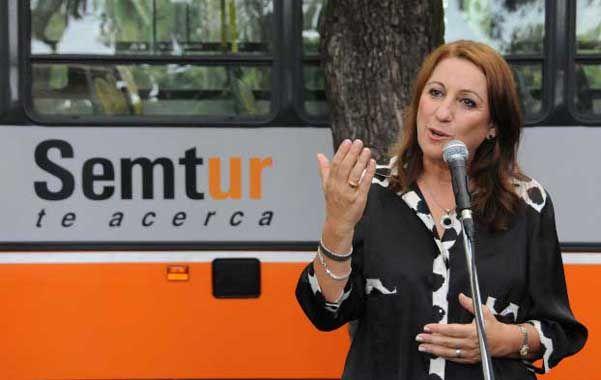 La intendenta expresó en el acto en el parque Independencia que espera que este año el Concejo trate la nueva licitación del transporte.
