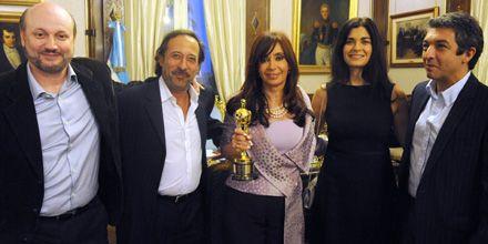 Cristina festejó el Oscar con Campanella y el equipo de El secreto de sus ojos