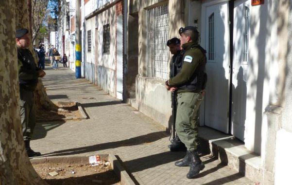 Operativo. Agentes de Gendarmería Nacional el jueves