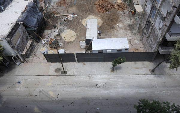 El sector donde se levantaban las torres afectadas.