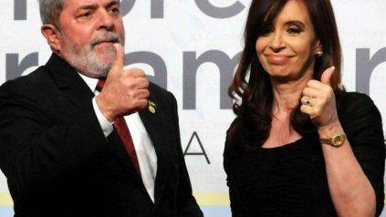 Cristina junto a Lula: Se utilizó al Poder Judicial para destruir la memoria de los pueblos