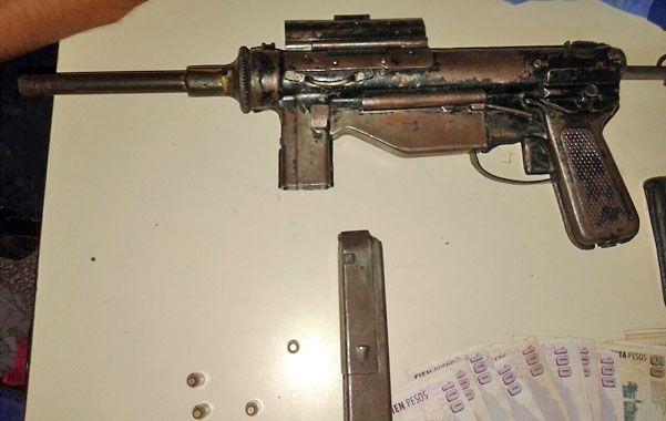 Poderosa. La ametralladora que le secuestraron a los jóvenes ladrones.