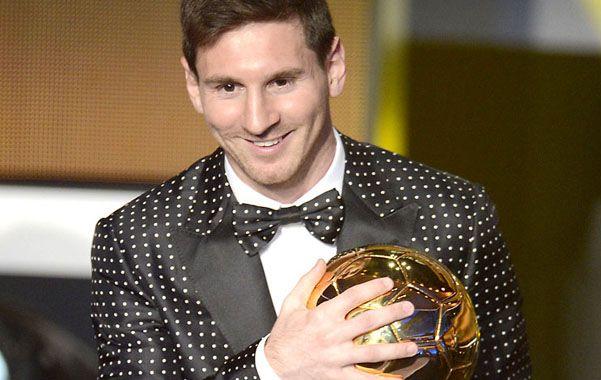 Galardonado. EL rosarino Lionel Messi ganó cuatro balones de oro en su carrera.