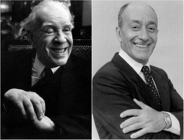 Jorge Luis Borges y Alberto Olmedo