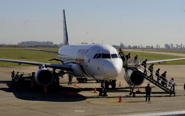 En vuelo. Uno de los imputados cayó al llegar ayer a Rosario desde Brasil.