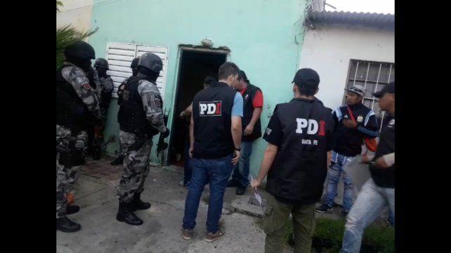 Un operativo que terminó con varias detenciones en Nuevo Alberdi.