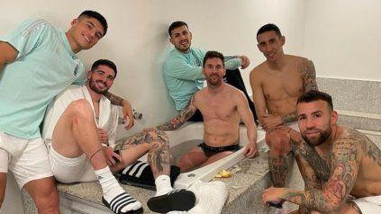 La intimidad del vestuario argentino en un posteo de Lionel Messi tras el triunfo ante Uruguay.
