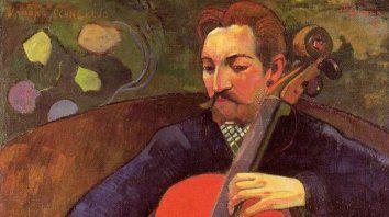 """""""El cellista"""", de Paul Gauguin (1848-1903)."""