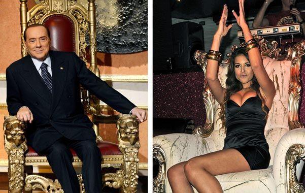 Altri tempi. Berlusconi en su mansión y Ruby durante una fiesta en Milán. La chica era parte del harén del magnate.