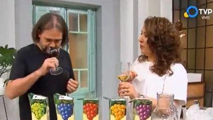 Cocineros Argentinos hizo estallar las redes por invitar a un sommelier a catar vino de tetra brik