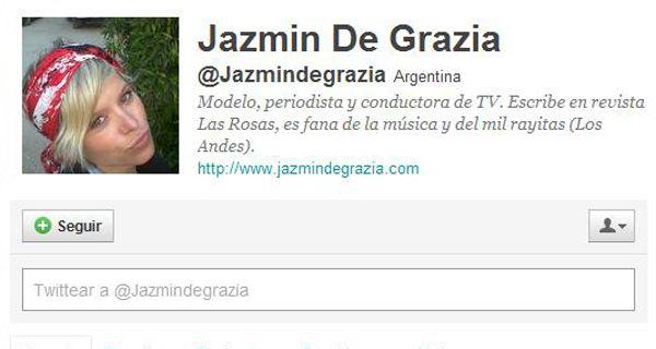 Se multiplican los mensajes y condolencias en Twitter por la muerte de Jazmín de Grazia