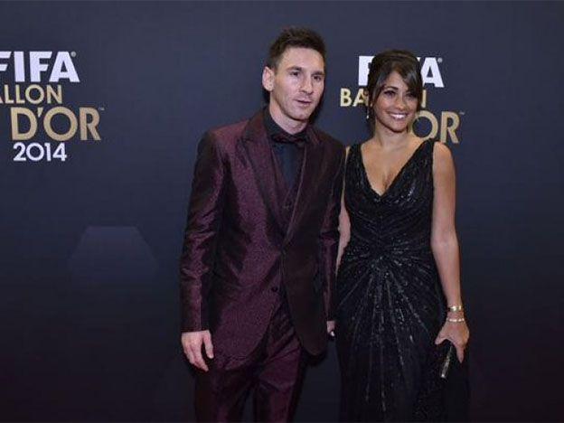 El look de Messi y Antonella en la gala del Balón de Oro