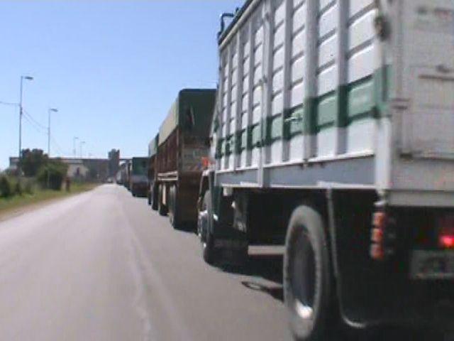 Arrancó la cosecha gruesa y los camiones se acumulan en el acceso a Alvear