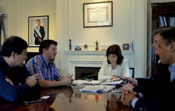 Bullrich dialogó con los diputados Ricardo Spinozzi y José Núñez