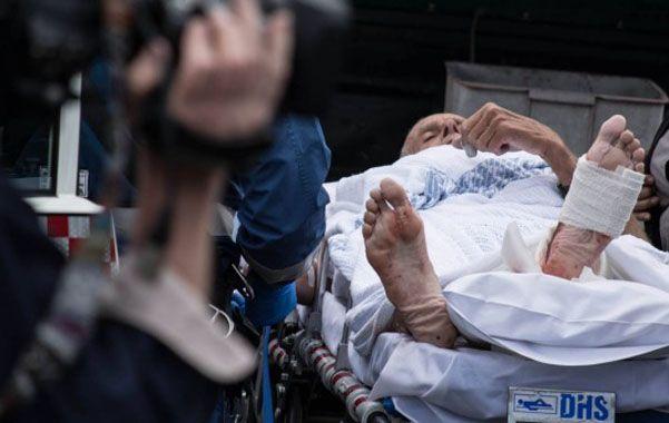 Temerario. David Quinlivan sufrió heridas en la pierna izquierda.