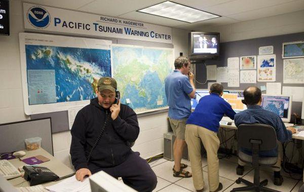 El Centro de Alerta de Tsunami en Hawai.