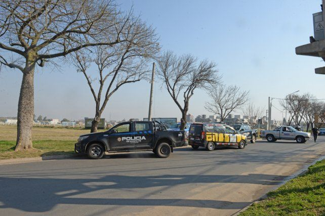 Personal policial trabaja en la zona donde se produjo el femicidio.