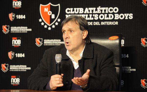Inevitablemente Martino se tuvo que meter en el tema Barcelona. Pero siempre apeló a palabras medidas y no profundizó demasiado.