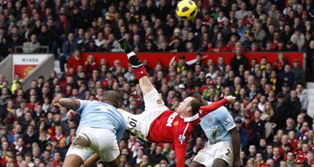 El Manchester City de Tevez perdió el clásico por una genialidad de Rooney