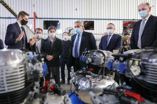 El presidente Fernández recorrió un conjunto de industrias que realizaron anuncios de inversión en los últimos meses.