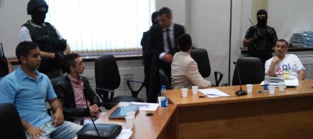 Los cuatro procesados escucharon esta mañana los alegatos de la fiscalía. (Foto: S. Suárez Meccia)