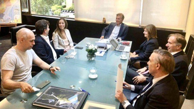 encuentro. El ex presidente Macri repasó con los referentes del PRO la agenda política.