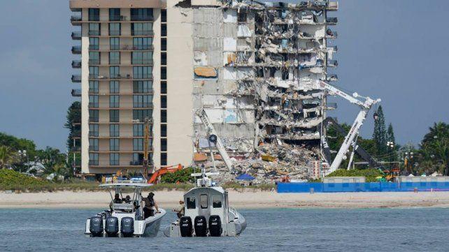 El edificio luego del derrumbe. Un sector importante quedó en pie
