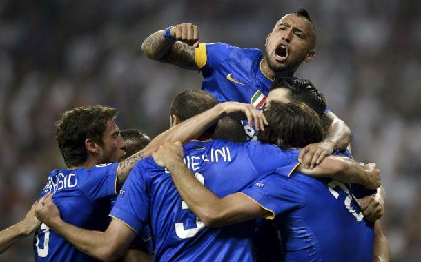 Los jugadores de la Juve festejan el pase a la final de la Champions tras dejar afuera a Real Madrid en su propia casa.