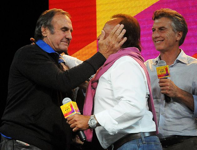 Reutemann junto a Anita Martínez