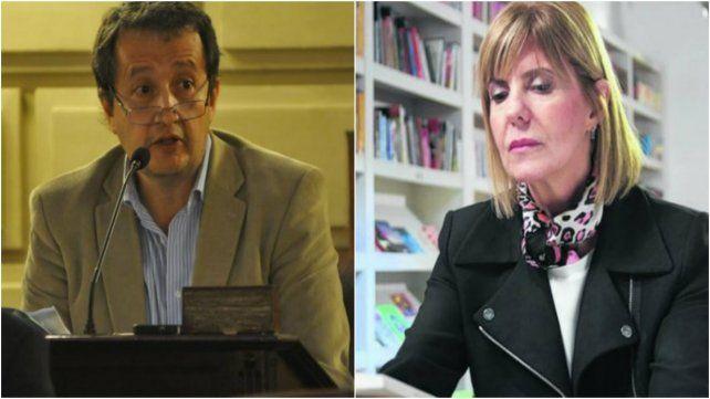 El diputado Carlos Del Frade.La ex jueza Alejandra Rodenas.