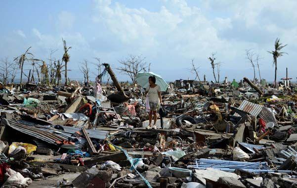 Desolador. El supertifón Haiyan arrasó Filipinas con vientos de 315 kilómetros por hora y ráfagas de hasta 380 kph.