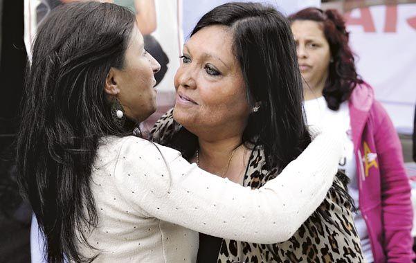 Juntas. Fabiana Ferreyra (de frente) y Valeria Stortoz