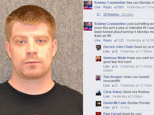 Un delincuente se entregó vía Facebook